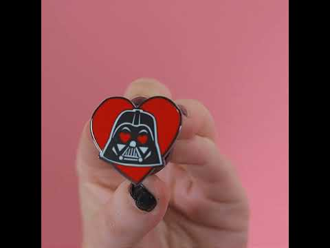 Star Wars - Darth Vader Heart Enamel Pin - Video