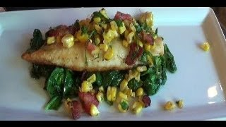 Pan Seared Tilapia With Chili Lime Butter And Corn Relish
