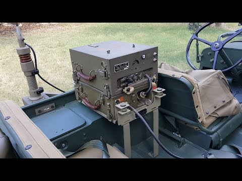 BC-620 Jeep Mounted Vehicle Radio Detailed Walk Through 1942 Willys MB / Ford GPW / SCR-510