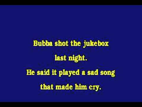 Jv0062 08   Chesnutt, Mark   Bubba Shot The Jukebox [karaoke]