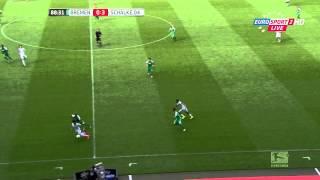Dennis Aogo chest pass vs Werder Bremen - HD