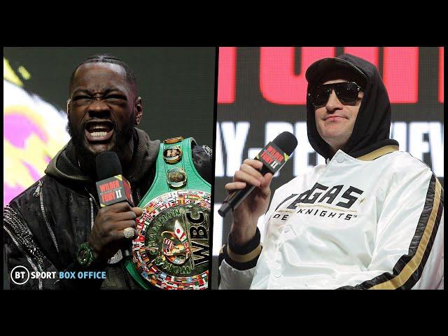 Wilder v Fury 2 live fight week press conference stream