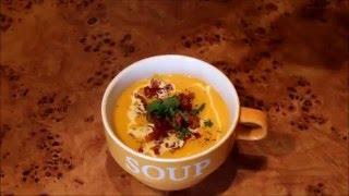 Кулинария Дядюшки Юнита - Хипстерский крем-суп из печёной тыквы с хрустящим беконом