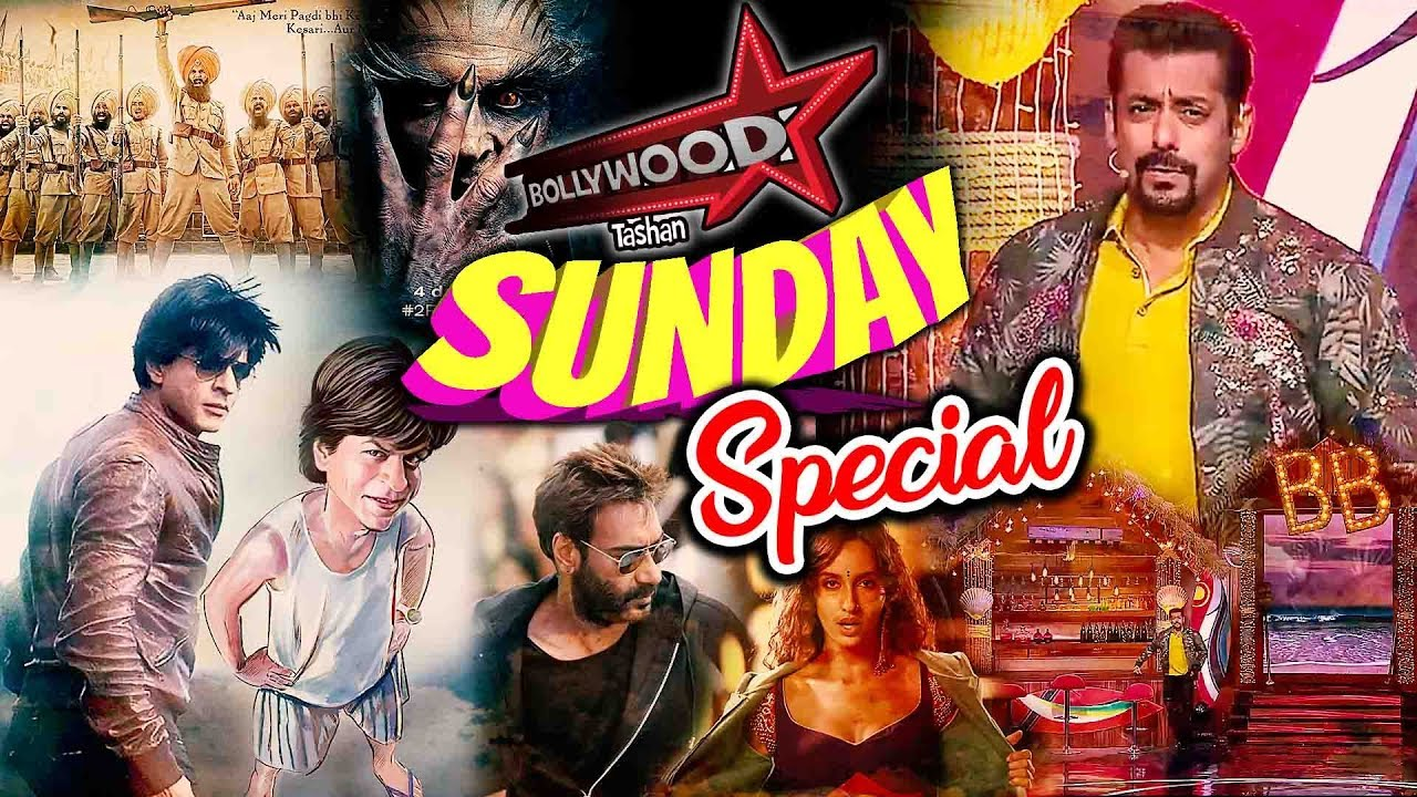 Bollywood Tashan Sunday Special: Latest Bollywood News | Salman Khan, Shahrukh, Akshay