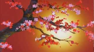 CHERRY BLOSSOM painting in motion