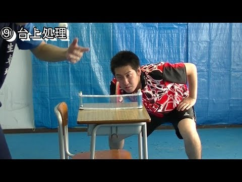 ping pong practice by a classroom desk