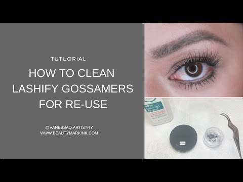 How to clean Lashify Gossamers for Reuse/Detailed Version /DIY Lash Extension System