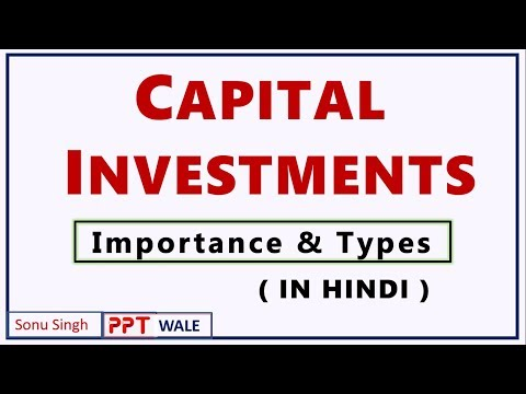 CAPITAL INVESTMENTS IN HINDI | Importance and Types | Project Planning & Evaluation | BBA/MBA | ppt