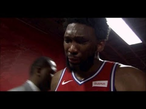Joel Embiid new emotional crying hulu has live sports commercial after Game 7 loss 5/15/19