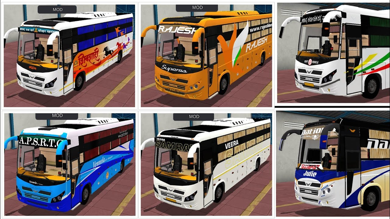 Veera V7 Bussid  Template and Skins | IBS Gaming |