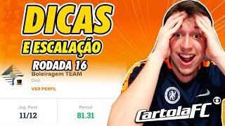 DICAS DO CARTOLA FC 2019 - 16ª RODADA   1232 PONTOS NACIONAL