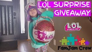 FAMILY VLOG 1 -  LOL BIG SURPRISE GIVEAWAY! The First snow of the year!  LOL SURPRISE