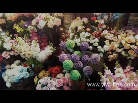 Главный оптовый рынок искусственных цветов. Искусственные цветы оптом из Китая.