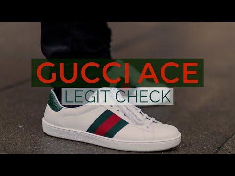 Как определить оригинальные Gucci Ace Sneakers