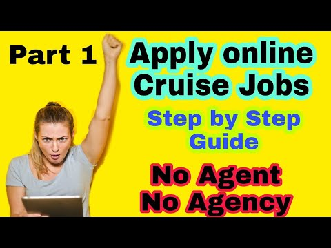 How To Apply For Cruise Ship Job Online | PART- 1 | Ship Job