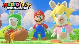 Mario + Rabbids Kingdom Battle 100% Walkthrough Part 1 - WORLD 1 ANCIENT GARDENS All Bosses Battle