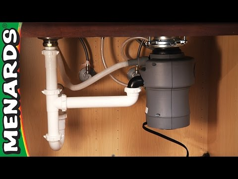 Garbage Disposer - How To Install - Menards