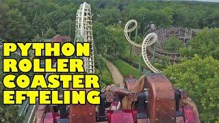 Python Roller Coaster Back Seat POV Efteling Netherlands