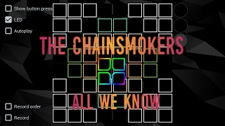 Cover Unipad.  All We Know - The Chainsmokers ll Project File