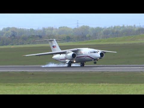 Rossiya Antonov An-148 landing in Vienna!