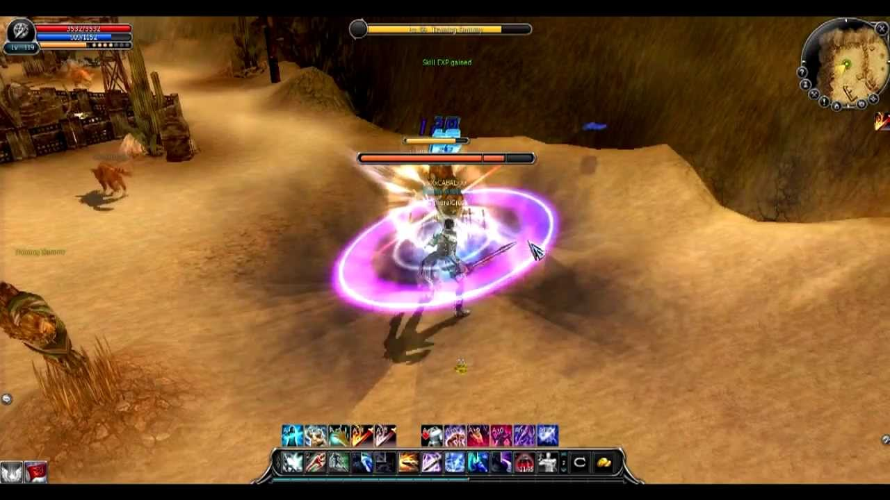 Cabal Online Eu My Force Blader Pvp Combo Youtube