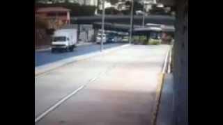 Momento exato da queda do viaduto em Belo Horizonte