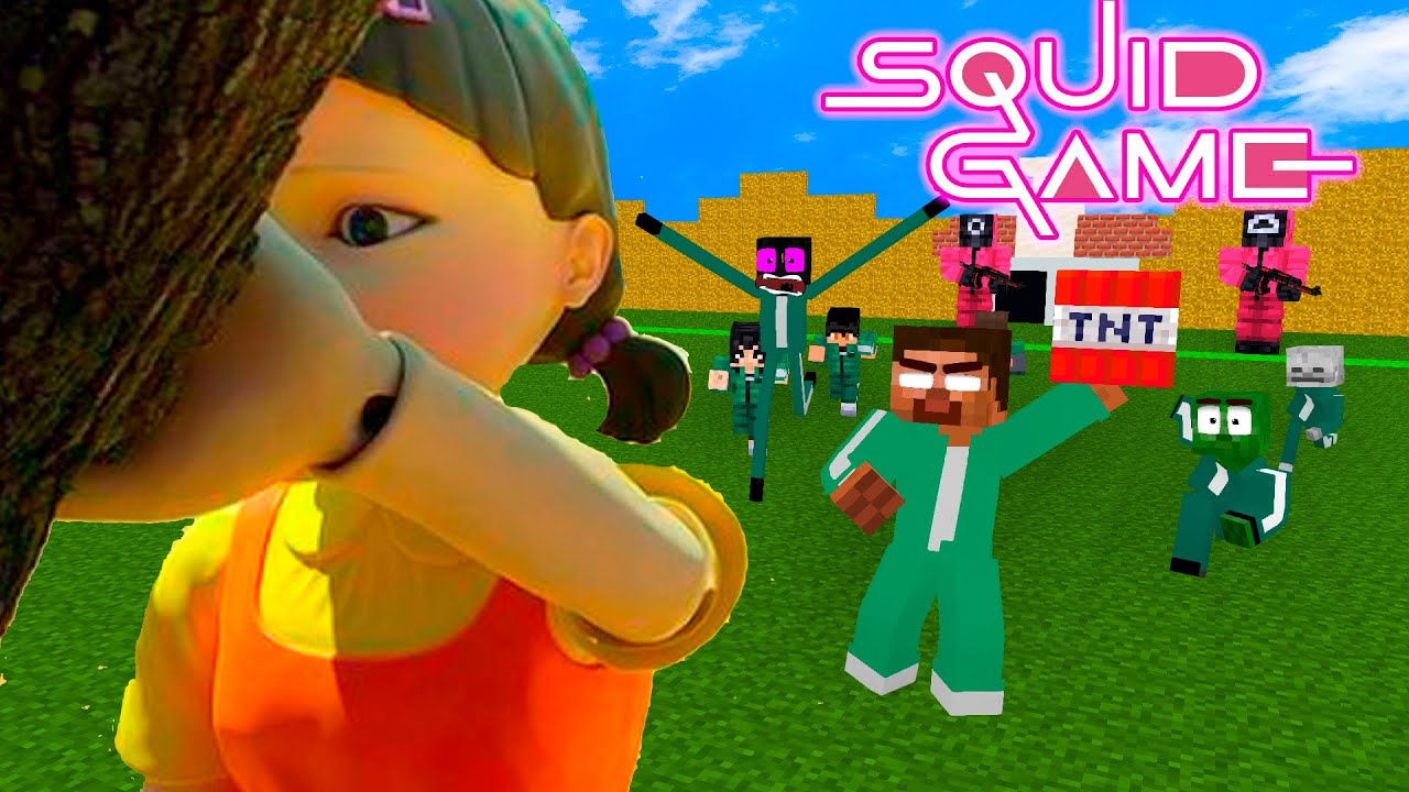 Monster School : Squid Game Red Light Green Light Save Your Life Challenge