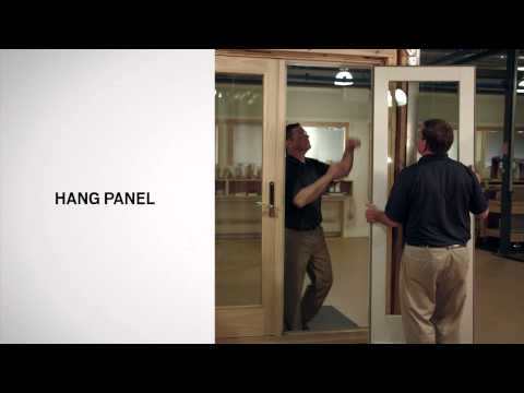 Active Panel Replacement on Andersen® Frenchwood Hinged Inswing Patio Doors