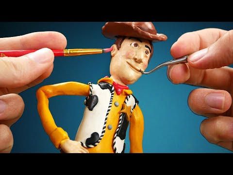 Making Woody from Toy Story 4 in Polymer Clay