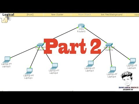 How to create a network with 1 router 2 switches 6 PC in Cisco Packet Tracer || Part 2