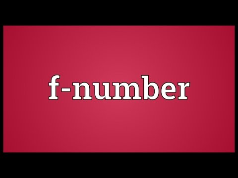 F-number Meaning