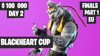 Fortnite Blackheart Cup Final PART 1 Highlights - EU Day 2 [Fortnite Tournament 2019]