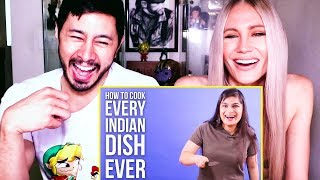 HOW TO COOK EVERY INDIAN DISH EVER | Buzzfeed India | Reaction by Jaby & Haley J!