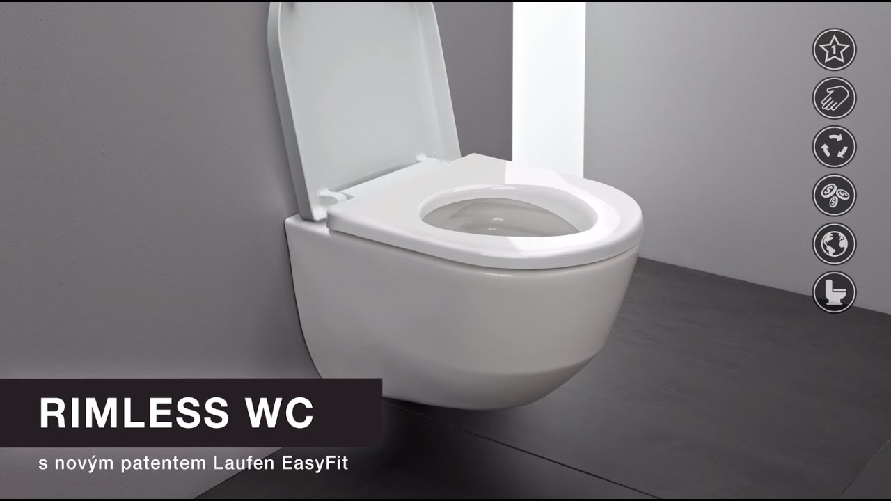 laufen rimless wc youtube. Black Bedroom Furniture Sets. Home Design Ideas