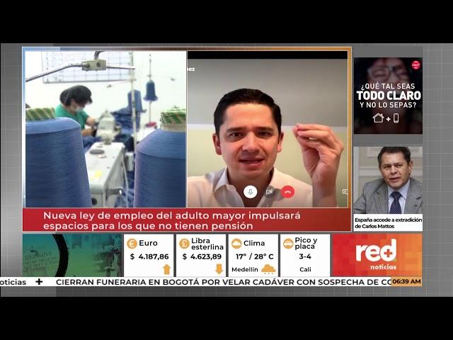 Entrevista Red Más Noticias - A sanción presidencial #LeyDelEmpleoDelAdultoMayor y #LeyDePasantías
