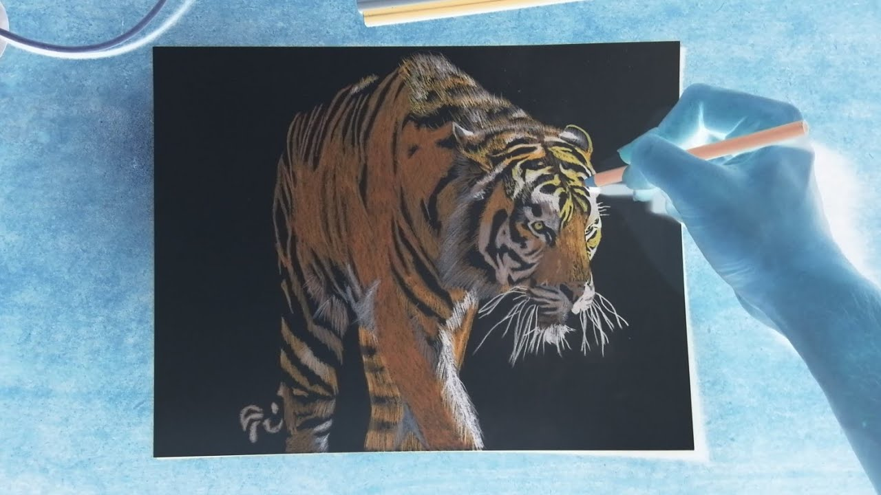 INVERTED ART | TIGER SPEED DRAWING