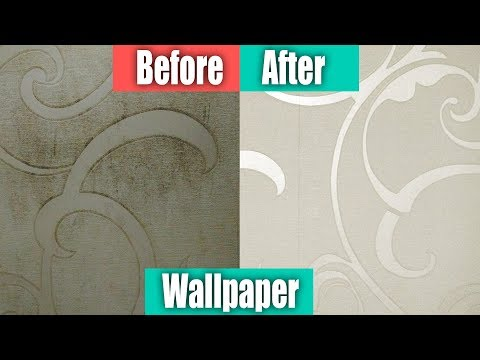 घर की गन्दी दीवारे आसानी से साफ़ करने का तरीका , How to clean wallpaper at home, Easy wall cleaning