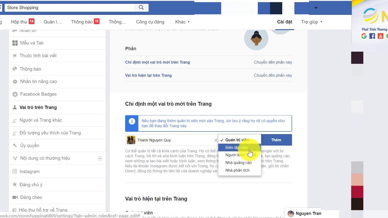 Cách thêm quyền quản trị trên trang fanpage facebook | Hướng dẫn từ A-Z