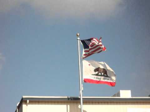American Flag, Bear Flag of the California Republic