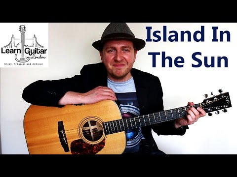 Island In The Sun - Easy Guitar Lesson - Weezer - Rhythm + Chords ...