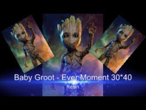 Baby Groot in Resin- Diamond Painting - Diamond in the Rough