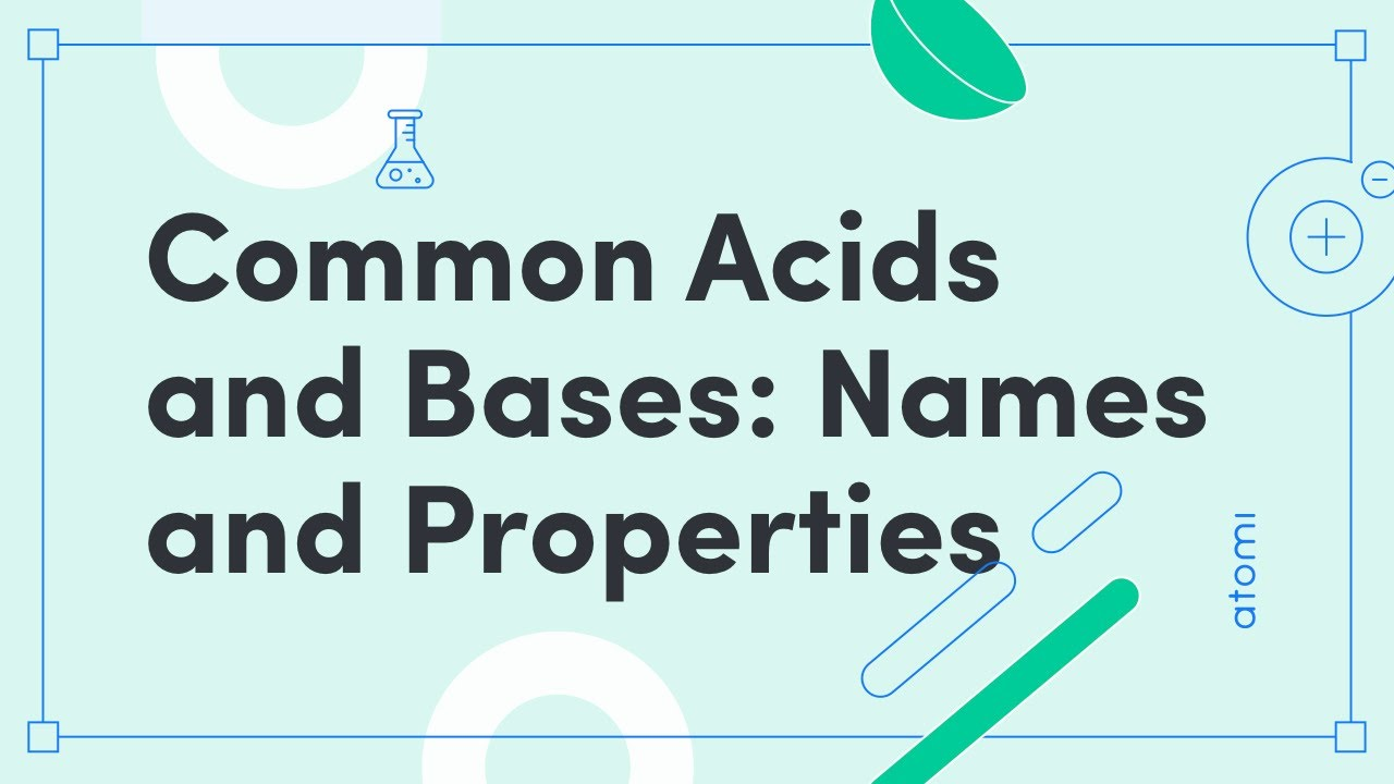 HSC Chemistry - Common Acids and Bases: Names and Properties (New Syllabus)