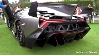 Repeat youtube video Lamborghini Veneno SOUND! Start Up + Driving On The Road!