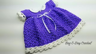 How To Crochet - BABY DRESS | Lil' Blueberry Muffin | BAGODAY Crochet Tutorial #444
