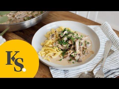 Zürcher Geschnetzeltes mit Pilzragout   schnelles Rezept für ein klassisches Gericht