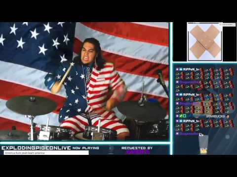 AMERICA, FUCK YEAH | Drum Cover Live on Twitch! 4th of July Special!