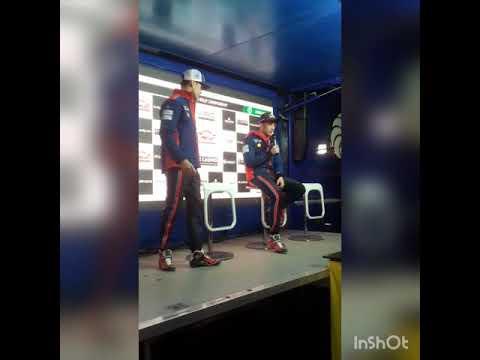 Interview de Thierry Neuville, de Sordo et de Ott Tanak après le skatedown(Rallye Monte Carlo 2018)