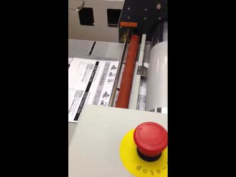 Matrix laminator processing eQuip London invite with Soft Touch DigiStick Laminating Film