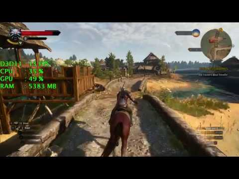 Intel UHD Graphics 630 -- Intel Core i3-8100 -- The Witcher 3 Wild Hunt FPS  Test