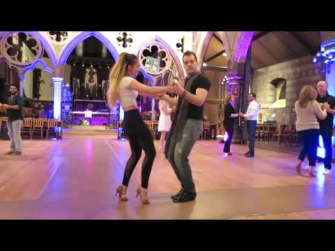 Renaud & Laura (Alma Mtl) (Bachata Class) at the Illuminights on March 11th 2016